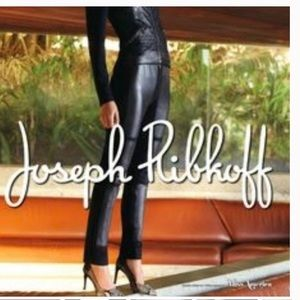 Joseph Ribcoff pants with faux leather panels